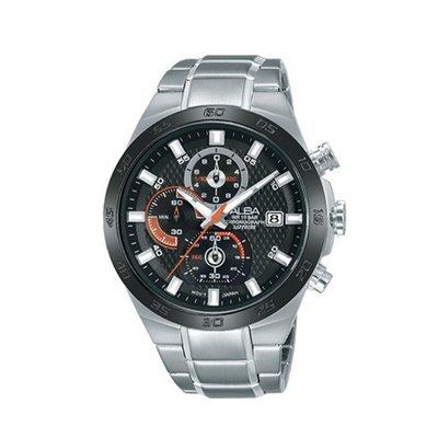 可議價「1958鐘錶城」ALBA雅柏 ACTIVE 男 三眼計時 石英腕錶(AM3337X1) 43mm