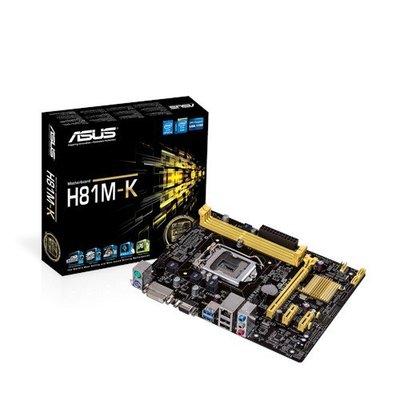 【ASUS華碩】H81M-K 主機板 提供DVI port『高雄程 傑電腦』