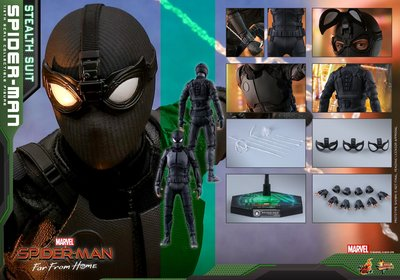 原價 HOTTOYS SPIDER-MAN: FAR FROM HOME - SPIDER-MAN (STEALTH SUIT) MMS540 蜘蛛俠