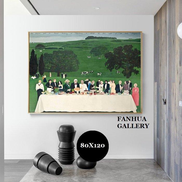 C - R - A - Z - Y - T - O - W - N 大衛霍克尼英國藝術家作品版畫人物風景裝飾畫世界名畫小眾民宿餐廳掛畫實品屋公司住宅空間設計掛畫