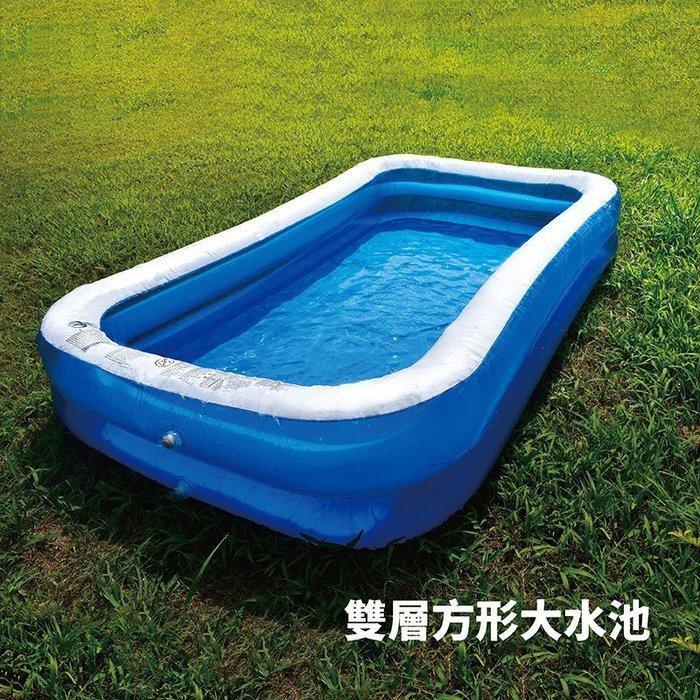 【Treewalker露遊】雙層方型大水池 290cm長 大充氣泳池 親子 戲水池 遊戲池 新款