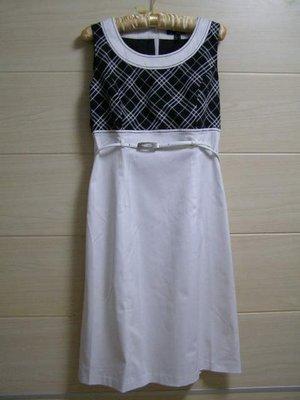 丹丹衣坊--JIN品牌黑白格紋洋裝