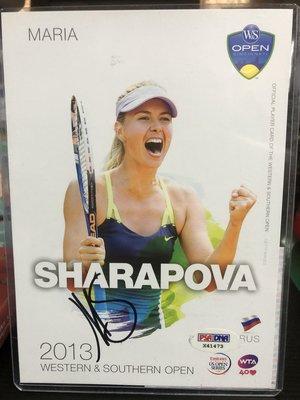 美網公開賽 辛辛那提 莎拉波娃 sharapova 入園紀念大卡親簽 PSA/DNA認證