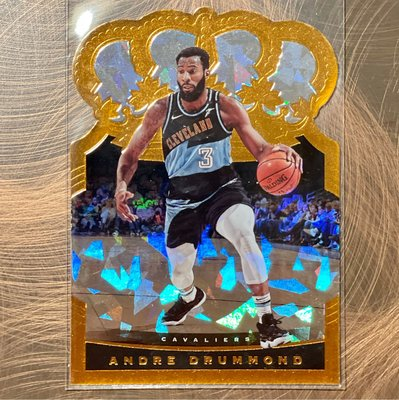 2020-21 Panini Crown Royale #56 Andre Drummond Cracked Ice Gold