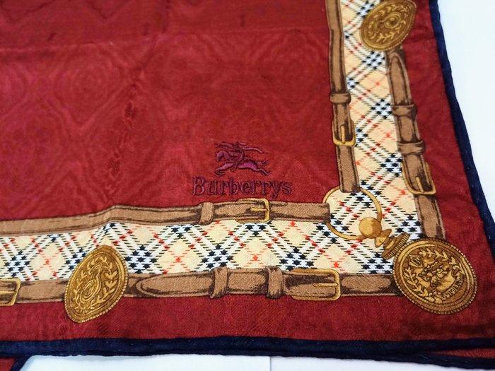 【姐只賣真貨】Burberry貴氣勳章圖案刺繡手帕(酒紅色)父親節88節禮物