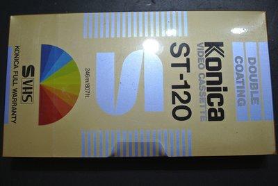絕版品  VHS/S-VHS 錄影帶 ~ KONICA 120min VIDEO CASSETTE  ~ ST-120