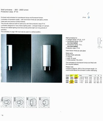 德國名牌 LIMBURG WALL MOUNTED LUMINAIRES MODEL NO. 7240