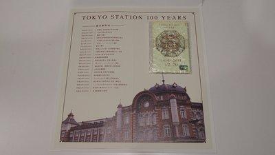 雅虎最划算 全新現貨 東京車站100週年紀念Suica 西瓜卡 含台紙 內含可用金額 ¥1500+¥500(卡體押金)