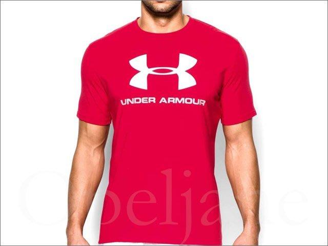 真品859元 Under Armour UA Heat Gear 安德瑪紅色圓領舒適柔軟短袖T恤M L號愛COACH包包
