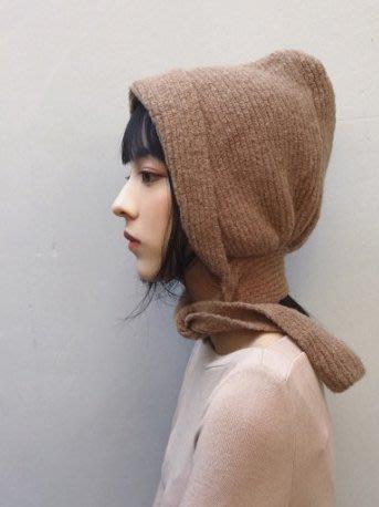 SEYES  復古自然風百搭連接圍巾暖暖造型毛帽/親子帽