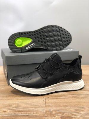 ECCO愛步春季透氣緩震運動休閒鞋 系帶低幫鞋836133 39-44