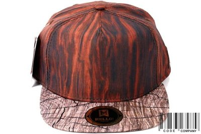 =CodE= 全新HELLO! SNAPBACK GOOD WOOD 木紋年輪帽(咖啡).LESS.真品公司貨.LBJ.軟木.HATER.免運費