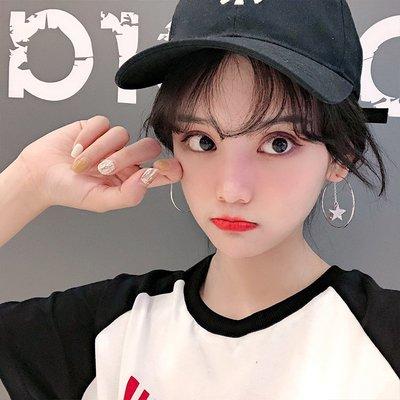 韓國Baby~PONY夸張歐美圓圈大耳環女星月耳釘耳墜氣質韓國個性適合圓臉耳飾