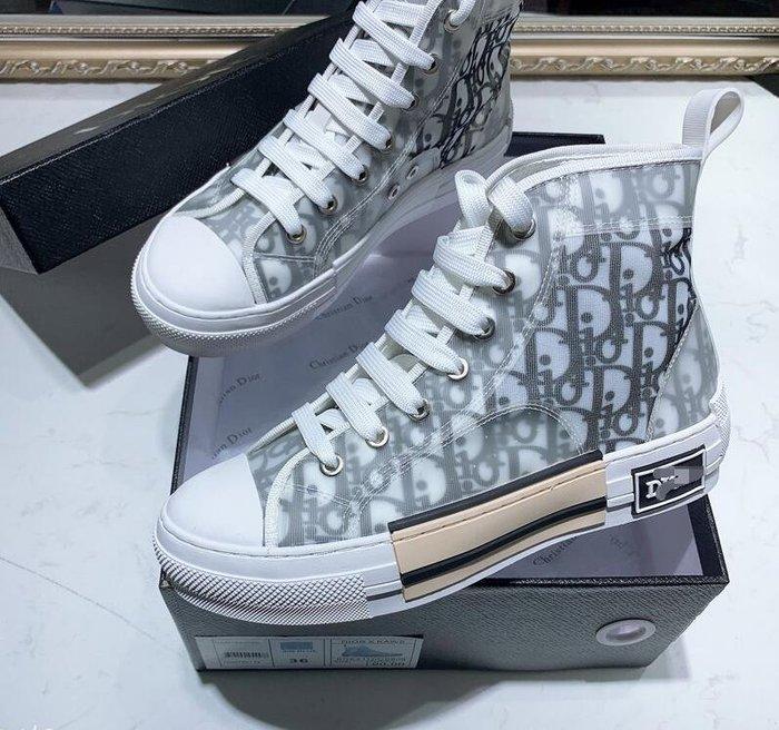 D迪家 新款拼色高幫鞋休閑鞋板鞋滿字母印花平底鞋情侶同款