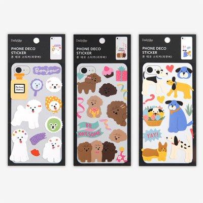 好心情日韓正品雜貨『韓國 dailylike』防水無痕手機殼裝飾貼紙 (8款)