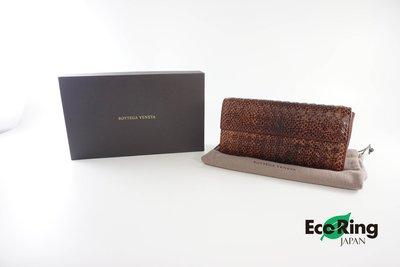 [Eco Ring HK]*Bottaga Veneta Long Wallet Brown Python*Rank B-197008553-