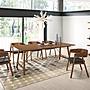 北歐現代loft餐桌椅組合飯桌復古長方形木餐...