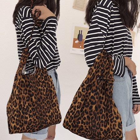 豹紋手提側背肩包/購物袋/環保袋 2款【F929208】