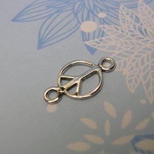 琥珀貓~【925純銀材料配件】連結配件~A0061~和平 PEACE~一個