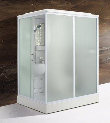 FUO衛浴:160X120公分 免防水工程 雅房變套房 側開門 整體式衛生間(不含馬桶) WX913預訂!