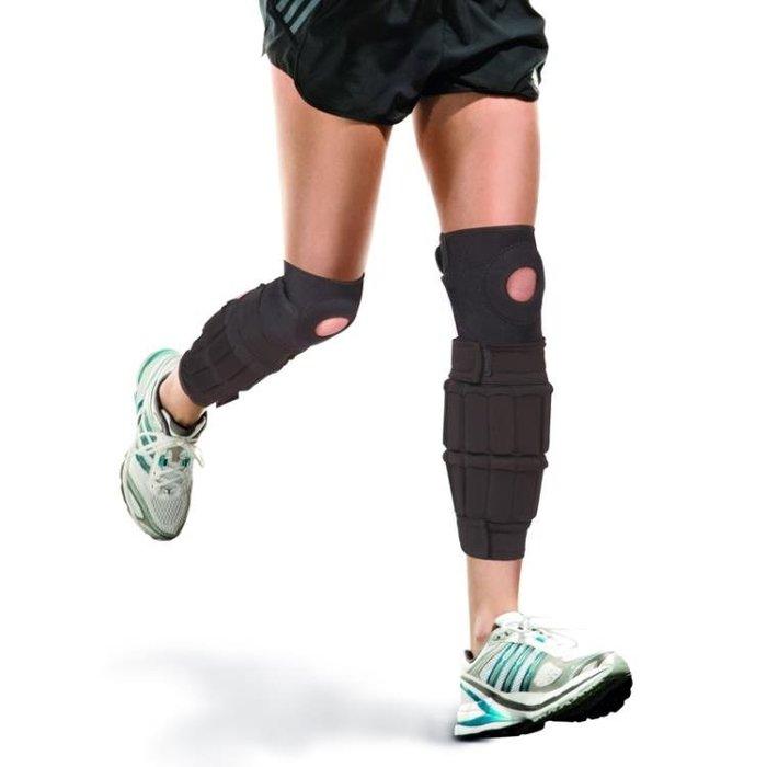 帶護膝沙袋綁腿跑步負重裝備鉛塊隱形可調節重量薄鋼板負重綁腿