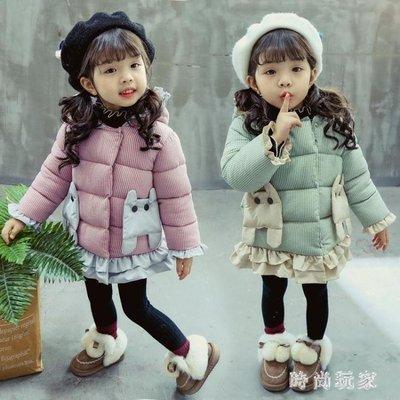 女童羽絨外套 女寶寶加厚羽絨棉衣兒童棉襖女童冬季嬰兒外套1OB749