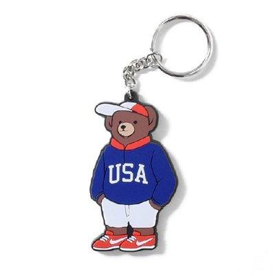 { POISON } INTERBREED USA BEAR KEY-RING FBI 小熊鑰匙圈