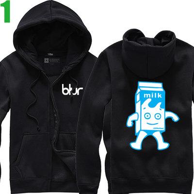 BLUR【布勒合唱團】連帽厚絨長袖英式搖滾樂團外套(共5種顏色可供選購) 新款上市購買多件多優惠!【賣場一】