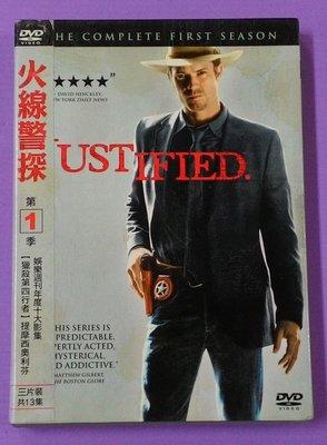 【大謙】《 火線警探 Justified (第1季.3碟.13集.附紙盒)》 台灣正版二手DVD