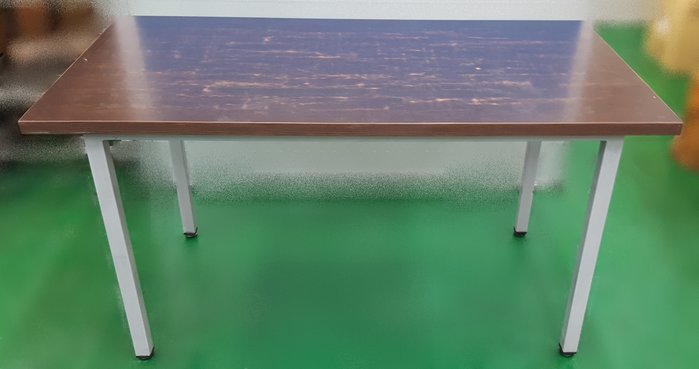 【宏品二手家具館】中古家具 家電E41606*胡桃銀腳餐桌*咖啡桌/會議桌/洽談桌/中古 書桌椅 會議桌椅 辦公桌椅