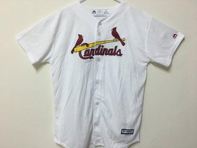 MLB 美國職棒大聯盟 聖路易紅雀隊 白色 棒球衣 青年版 Majestic Saint Louis Cardinals