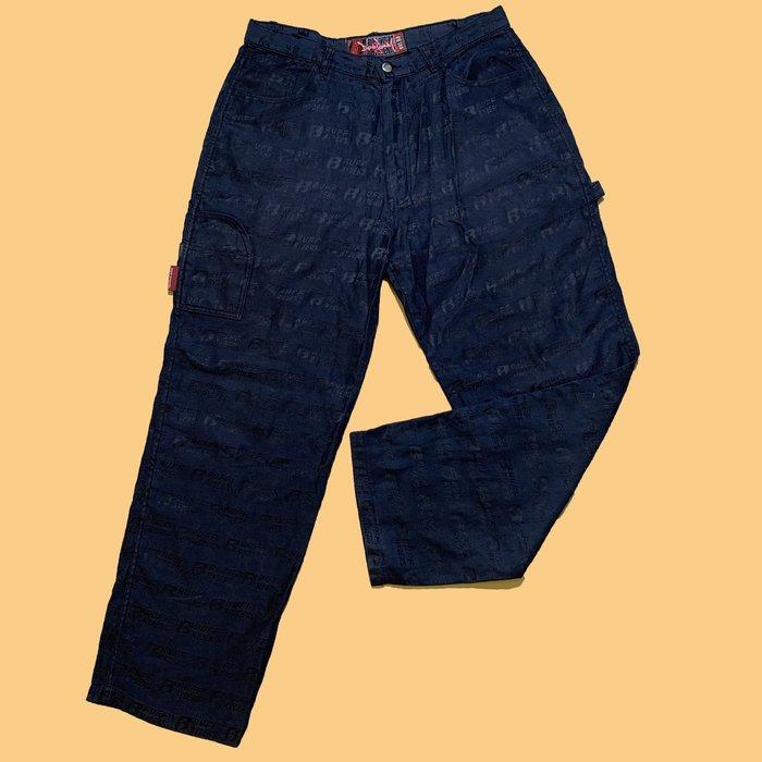 JCI:Ruff Ryders 廠牌服裝支線 滿版印刷LOGO工作褲 / 東岸嘻哈 / 00s / Y2K / DMX