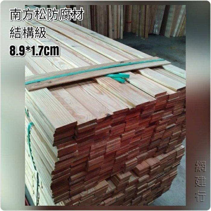 網建行® 南方松防腐材 【寬8.9cmX厚1.7cm 每呎17元】壁板 木材 DIY 圍籬 木板 另有各種規格南方松