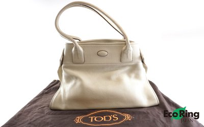 [Eco Ring HK]*Tods Shoulder Bag White Leather*Rank BC-207001537-