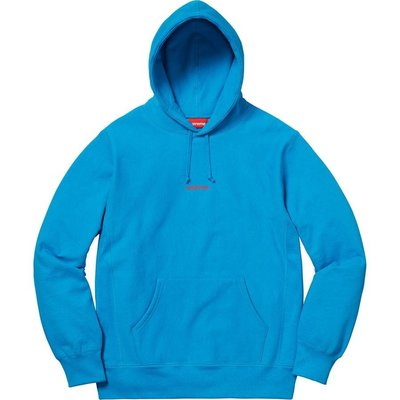 (TORRENT) 2018 Supreme Trademark Hooded Sweatshirt 帽t 黑.天空藍