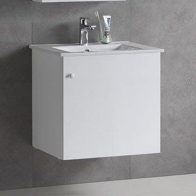 《101衛浴精品》小空間專用 面盆浴櫃 50CM 防水發泡板 5層環保亮面鋼琴烤漆【全台大都會免運費 可貨到付款】
