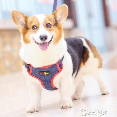 狗狗牽引繩背心式胸背帶泰迪柯基法斗金毛中大型犬遛狗繩錬子用品CXZJ