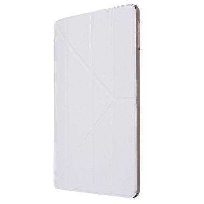 【GooMea】4免運 Apple蘋果 iPad 2 3 4 代 蠶絲紋Y型 皮套保護套 白色 保護殼手機套手機殼