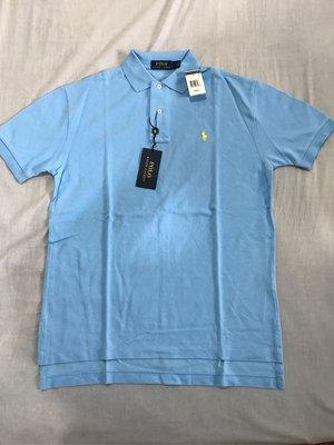 Polo Ralph Lauren by polo 男生polo衫 水藍色 小馬logo S號 全新正品 美國購回