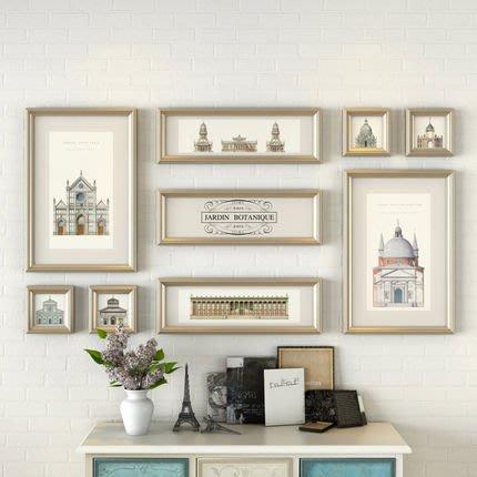北歐照片牆相框牆創意組合客廳掛牆現代簡約相片牆裝飾畫