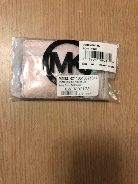 MK 玫瑰金  山羊皮 有內襯 萬用名片夾 / 卡夾