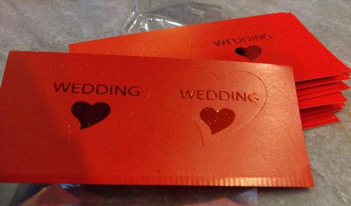 愛心貼紙 喜帖貼紙 婚禮小物貼紙