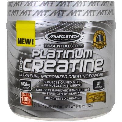 Muscletech , Platinum  Creatine 肌酸 肌酸 400公克 80份
