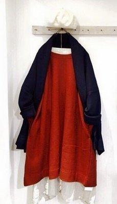 日本質感品牌 style+confort 定番 壓縮 羊毛A line 洋裝 日本製