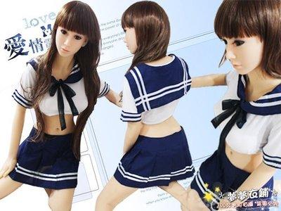 *夢夢衣鋪*(A188043)100%實品拍攝 氣質清純短袖學生服 露肚水手服 角色扮演 遊戲制服 學生制服