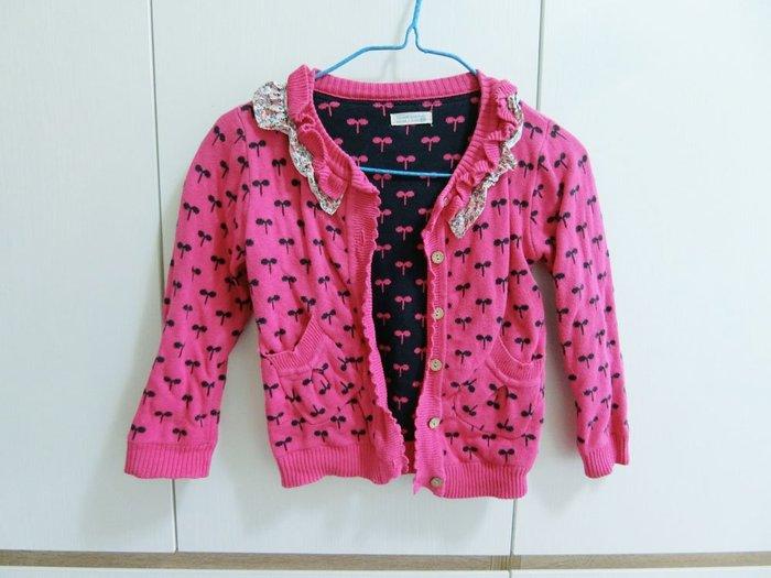 【兒童二手衣】RA6 MART N MY PLACE 童裝 外套 純綿100% 105-115CM 粉紅色+深藍針織衫