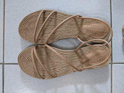 (二手) 九成新 Accento Squisito AS 女鞋 涼鞋 拖鞋 針織羅馬鞋 休閒平底鞋 Size: 36.0