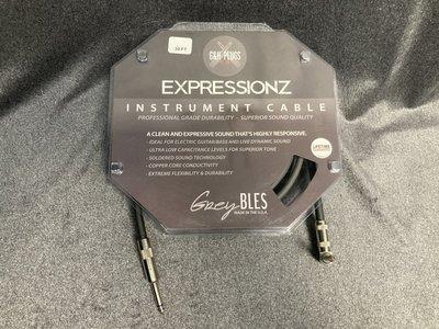 【又昇樂器 . 音響】免運 美國大廠 G&H Plugs 黑標 ExpressionzCable 導線20ft 演出推薦