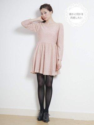 EME   EARTH MUSIC 粉紅色毛圈洋裝連身裙  lowrys小穎kashin