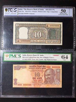 (((趣味大叔)))🇮🇳印度稀有雙胞胎大趣味鈔999999vs999999